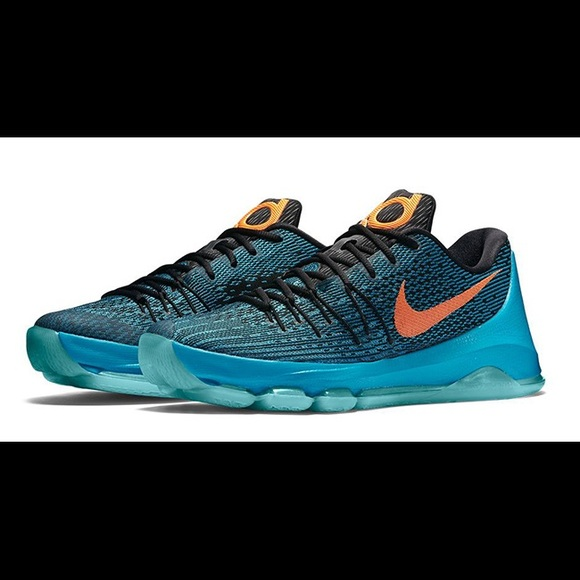 check out a6654 7ce8c Youth Nike Kevin Durant KD 8 Blue Lagoon Sneakers